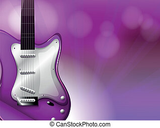 A guitar with a gradient colored background - Illustration...