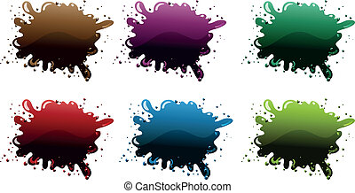 Different paint colors - Illustration of the different paint...