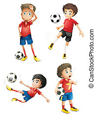 A team of soccer players - Illustration of a team of soccer...