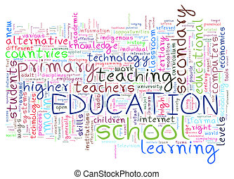 Words tag of eduction - Illustration of education word tags...