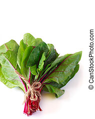 Fresh chard. - Bundle of fresh kitchen garden chard on a...