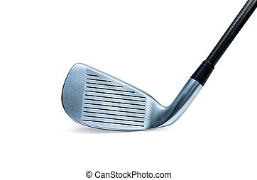 Golf club  - Modern golf club isolated on white background.