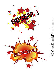 boom text in comic book style