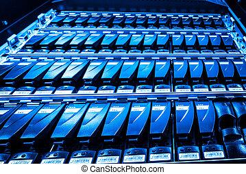 data center - hard drives in data center