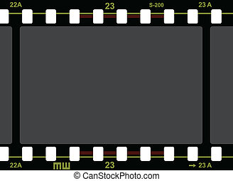 Film Strip Pattern on white background. Vector.
