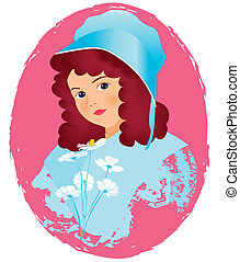 women face vintage 2 - is an illustration in eps file