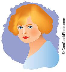 women face vintage 3