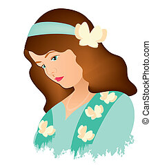 women face vintage 6 - is an illustration in eps file