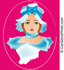 women face vintage 7 - is an illustration in eps file