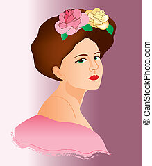 women face vintage 10 - is an illustration in eps file