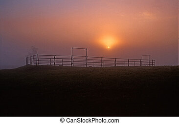 Sunrise Over The Corral