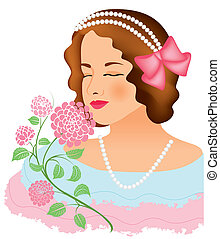 women face vintage 13 - is an illustration in eps file