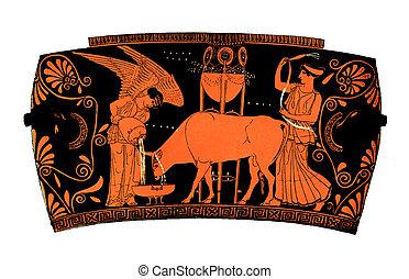 Ancient greek vase: Democracy