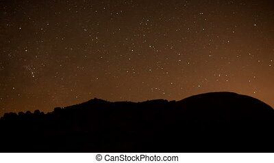 timelapse of stars at night