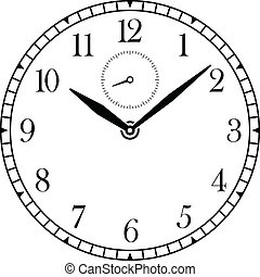 Clock - vector clock face and hands