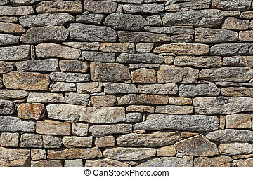 Granite Stones Wall - Close-up of a wall made by granite...