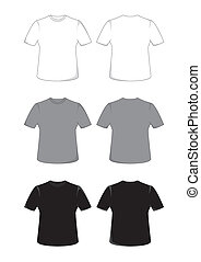 T-shirt - Front and back views of a t-shirt