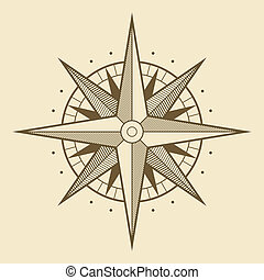 Wind rose - Vector oldstyle wind rose compass