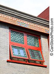 Traditional Chinese architectural style of eaves and window