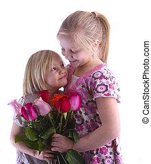 soeurs,  roses