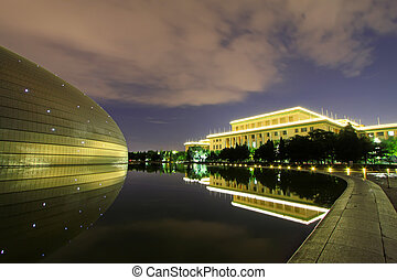 Beijing September 13The National Grand Theatre and the Great...