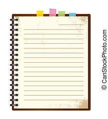 Vintage note pad with spiral