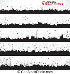 Vector set of grunge borders - Set of grunge borders Grunge...