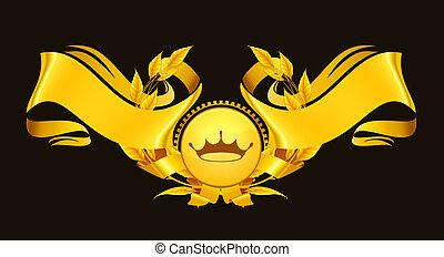 Design Element, Emblem gold eps10