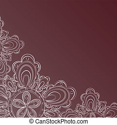 Frame with lace floral pattern