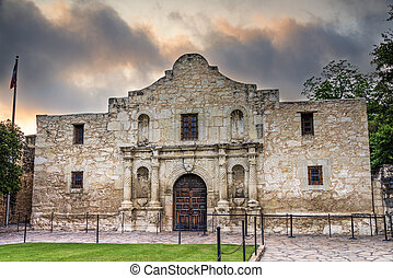 The Alamo, Asn Antonio, TX - Exterior view of the historic...