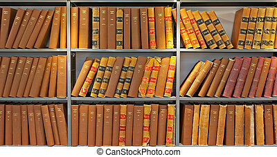 Archive of old probate books in a library