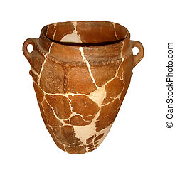 Old Vase - Old Ceramic Vase Put Together From Pieces with...
