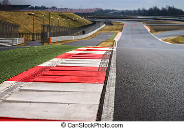 Race way track line for formula competition