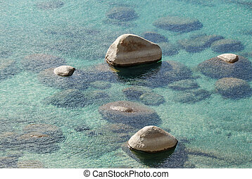 Rocks in Clear Lake Water - Rocks showing from clear lake...