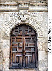 The Alamo's Front Door - Entryway into the historic Alamo in...