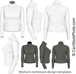 Women's turtleneck design templates - Vector. Women's...