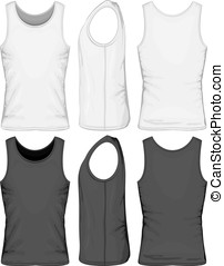 Singlet - Vector illustration of singlet front, side, back...