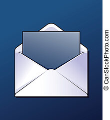 Mail envelop - Envelop with some letter. Vector.