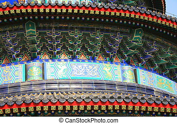 Temple of Heaven detail - Temple of Heaven architectural...