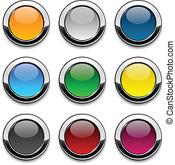 Round colorful icons.