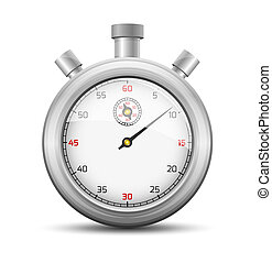 The stopwatch - The isolated stopwatch graphic element with...
