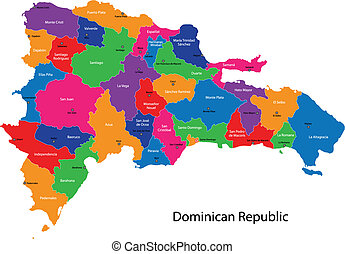 Map of Dominican Republic - ap of Dominican Republic with...