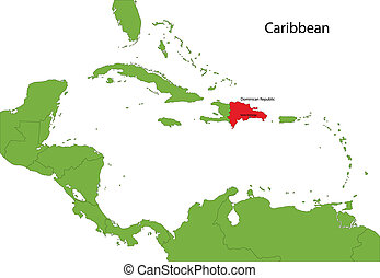 Dominican Republic map - Location of Dominican Republic on...