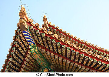 Pagoda detail in forbidden city