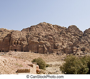 Palace and Corinthian tomb, Petra Jordan