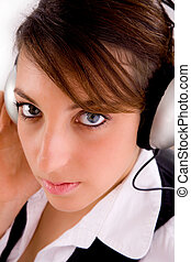 female entrepreneur liste - closeup of female entrepreneur...