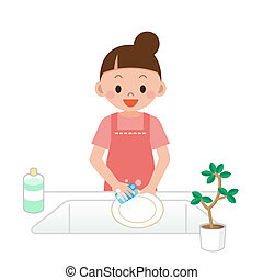 Women who wash the dishes