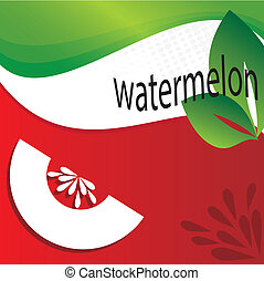 watermelon design over flag background vector illustration