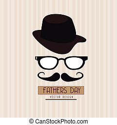 fathers day design over grunge background vector...