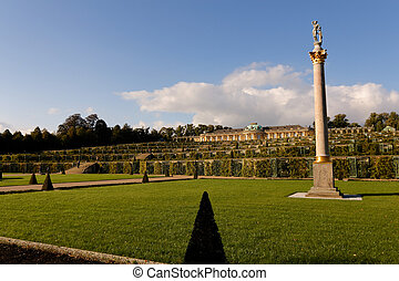 Park at Sanssouci - Gardens of Sanssouci castle in Potsdam,...